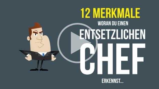 12 Merkmale für einen schlechten Chef