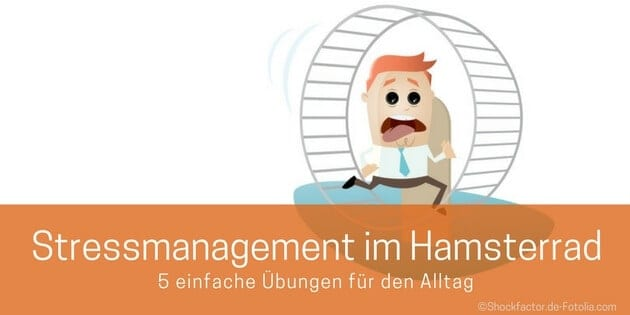 Stressmanagement: Angestellter läuft im Hamsterrad
