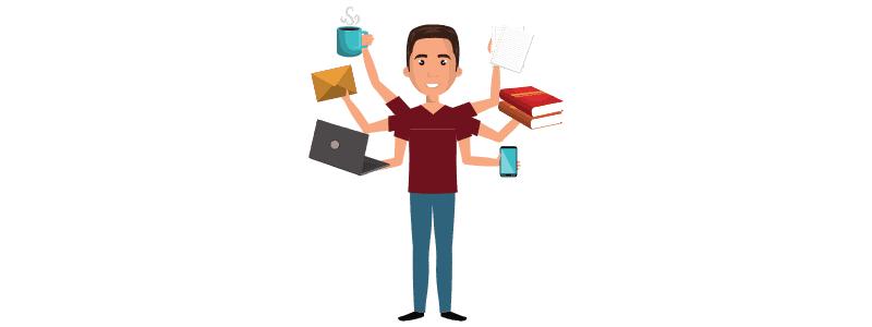 Stressbewältigung - Multitasking kann ein Stressfaktor sein.