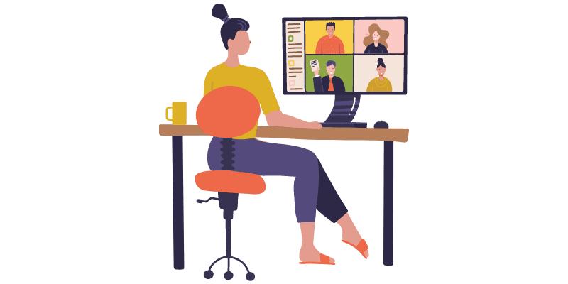 Virtuelles Team führen vom Home-Office aus