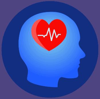 Hirnpuls Logo - Kopf mit Herz