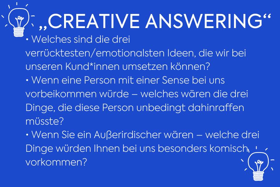 Creative Answering zum Change Management Prozess